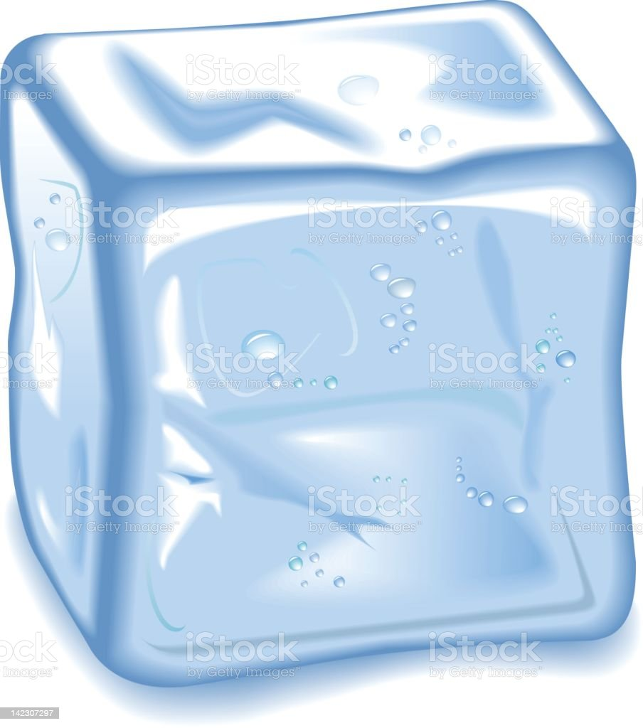 Clip art of a cube of ice on a white background  royalty-free stock vector art