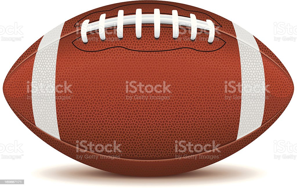 Clip art of an American football on a white background  vector art illustration