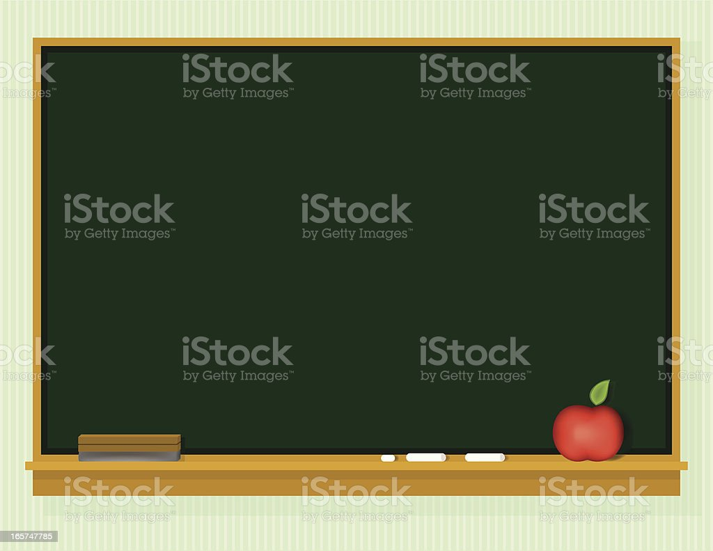 Clipart Back to School blank blackboard with chalk royalty-free stock vector art