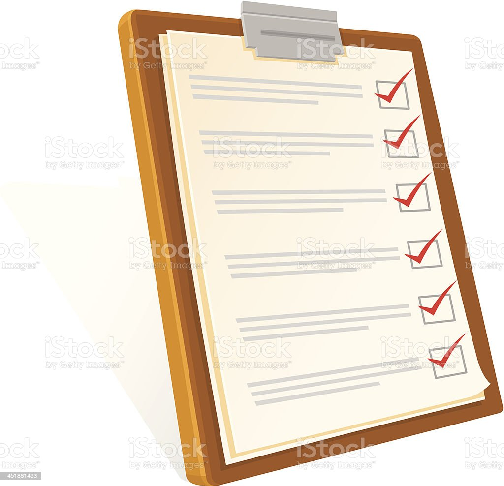 Clipboard and Check List Icon vector art illustration