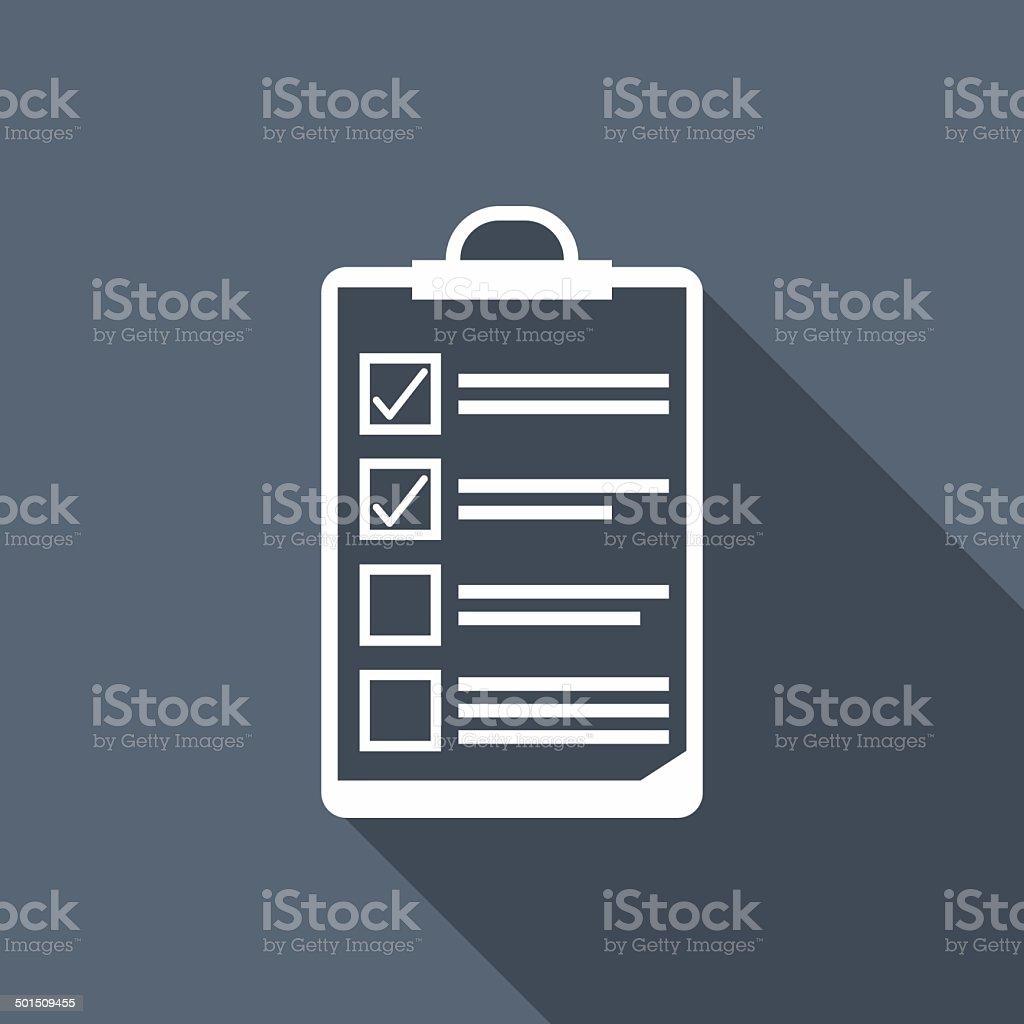 clipboard icon vector art illustration