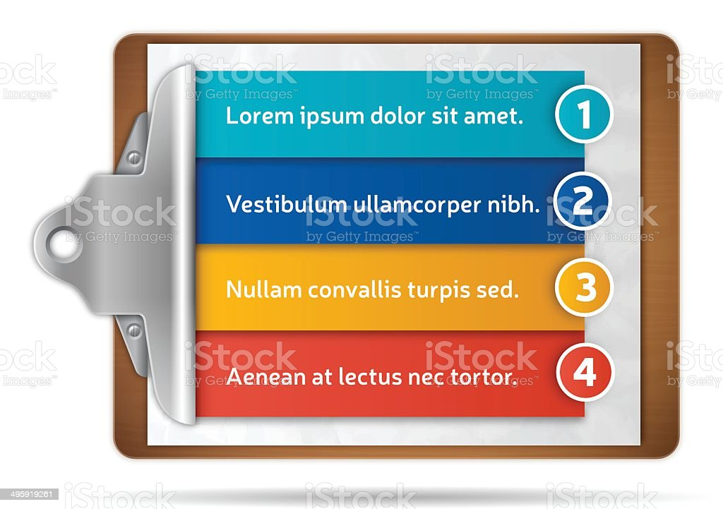 Clipboard Options vector art illustration