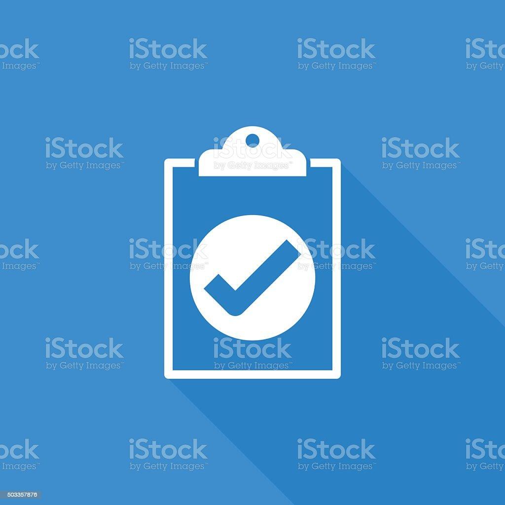 clipboard right icon vector art illustration