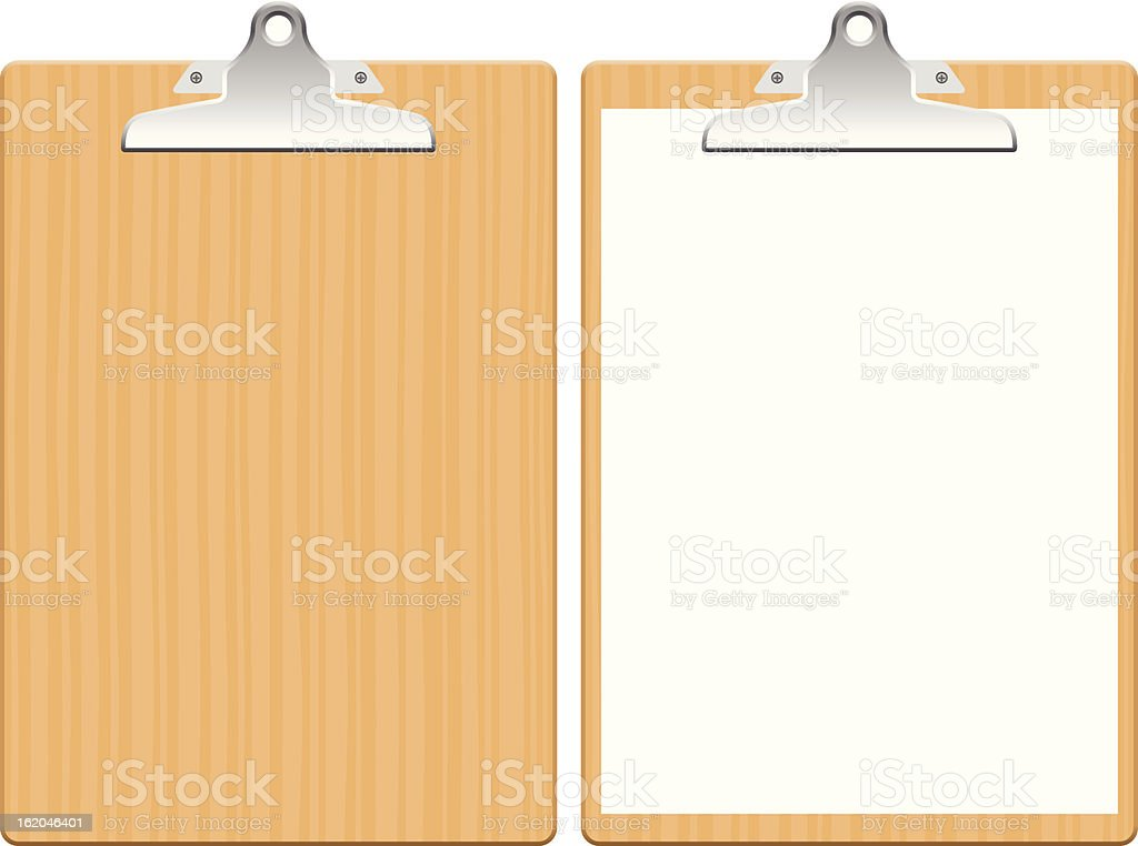 Clipboard royalty-free stock vector art