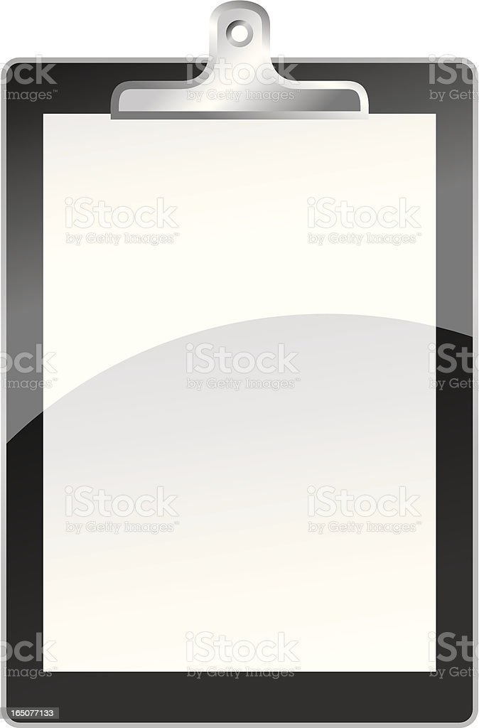 Clipboard web 2.0 style royalty-free stock vector art