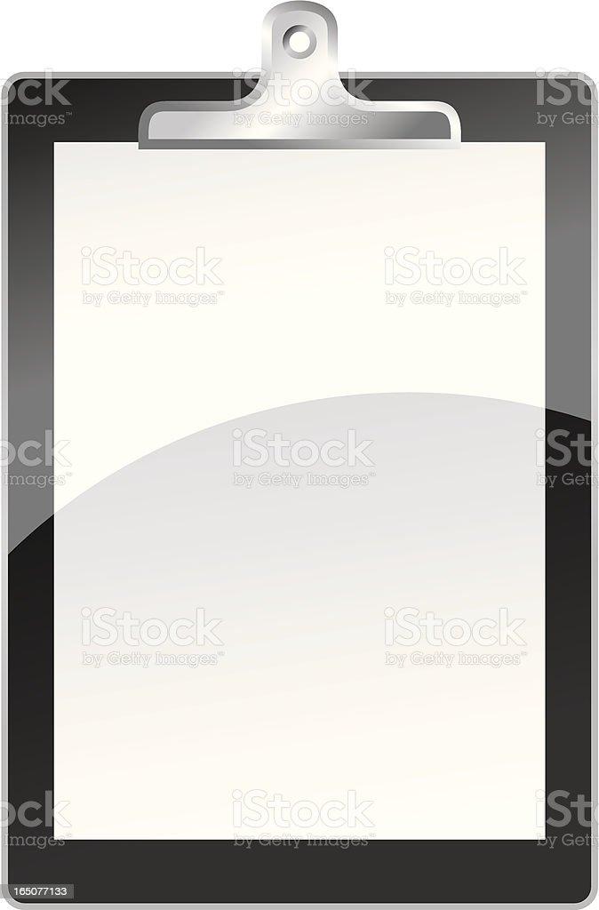 Clipboard web 2.0 style vector art illustration