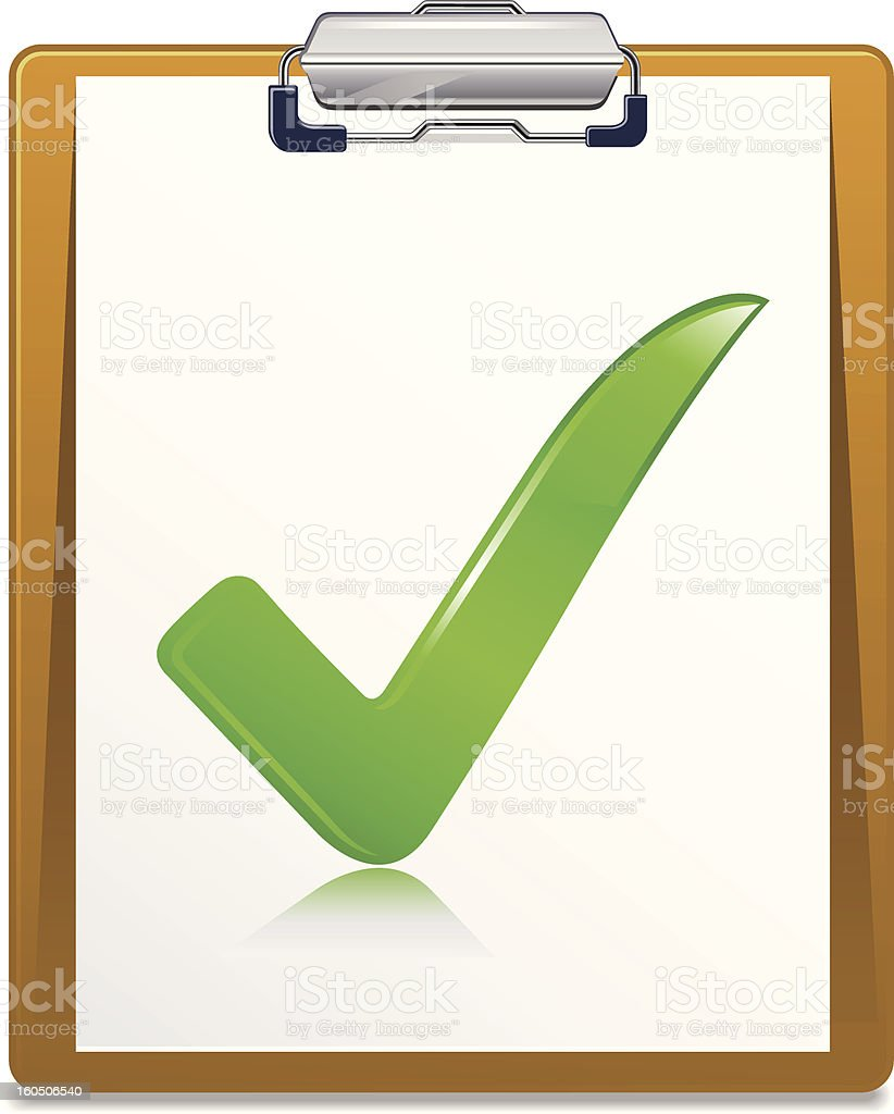 Clipboard With Check Mark royalty-free stock photo