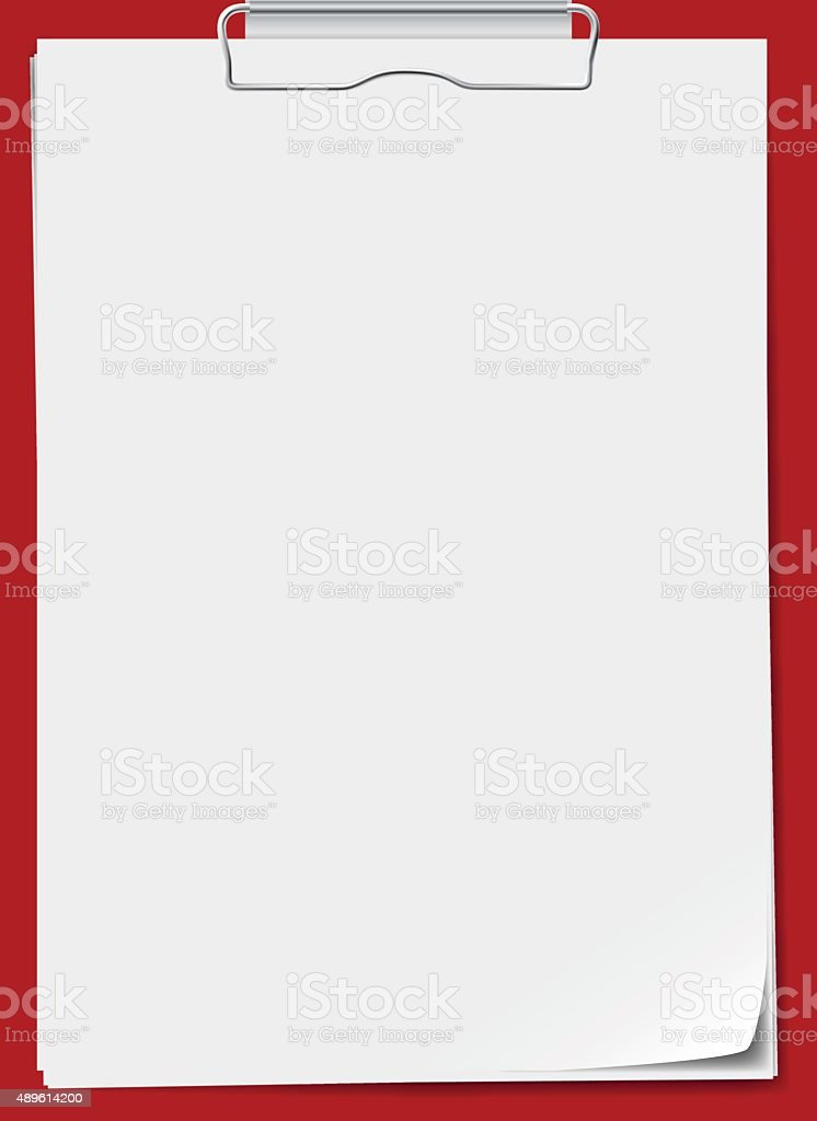 Clipboard with paper. Vector illustration vector art illustration