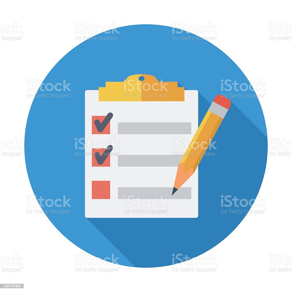 Clipboard with pen vector art illustration