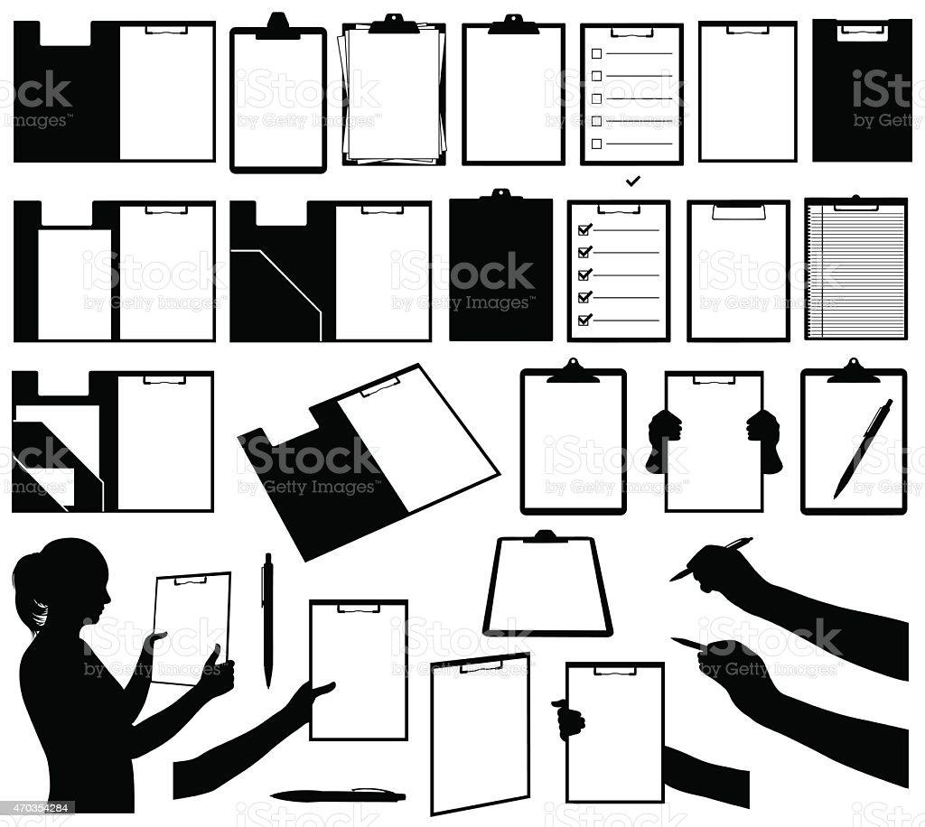 Clipboards isolated vector art illustration