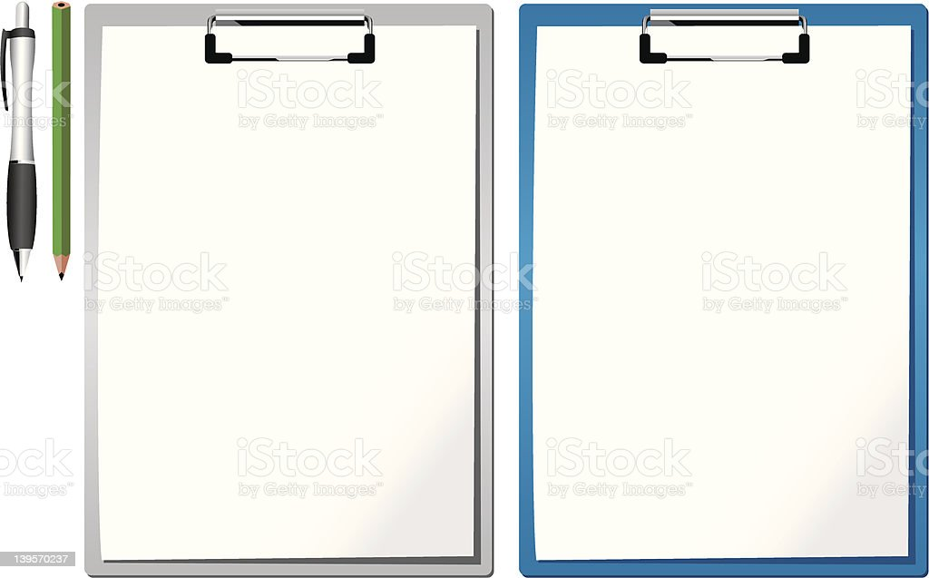clipboards royalty-free stock vector art