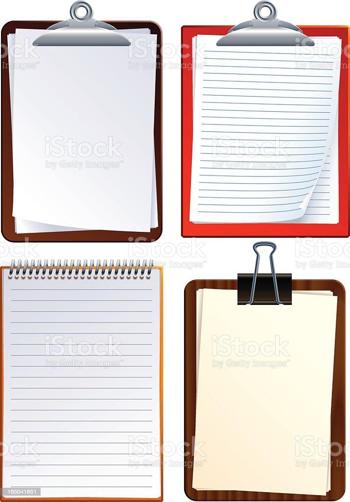 clipboards (vector) royalty-free stock vector art