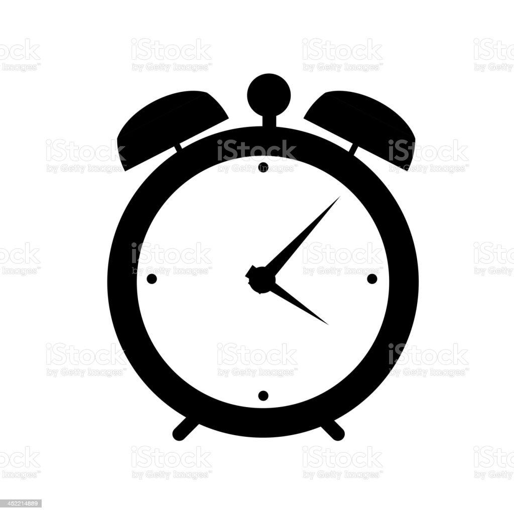 clock alarm icon vector illustration vector art illustration