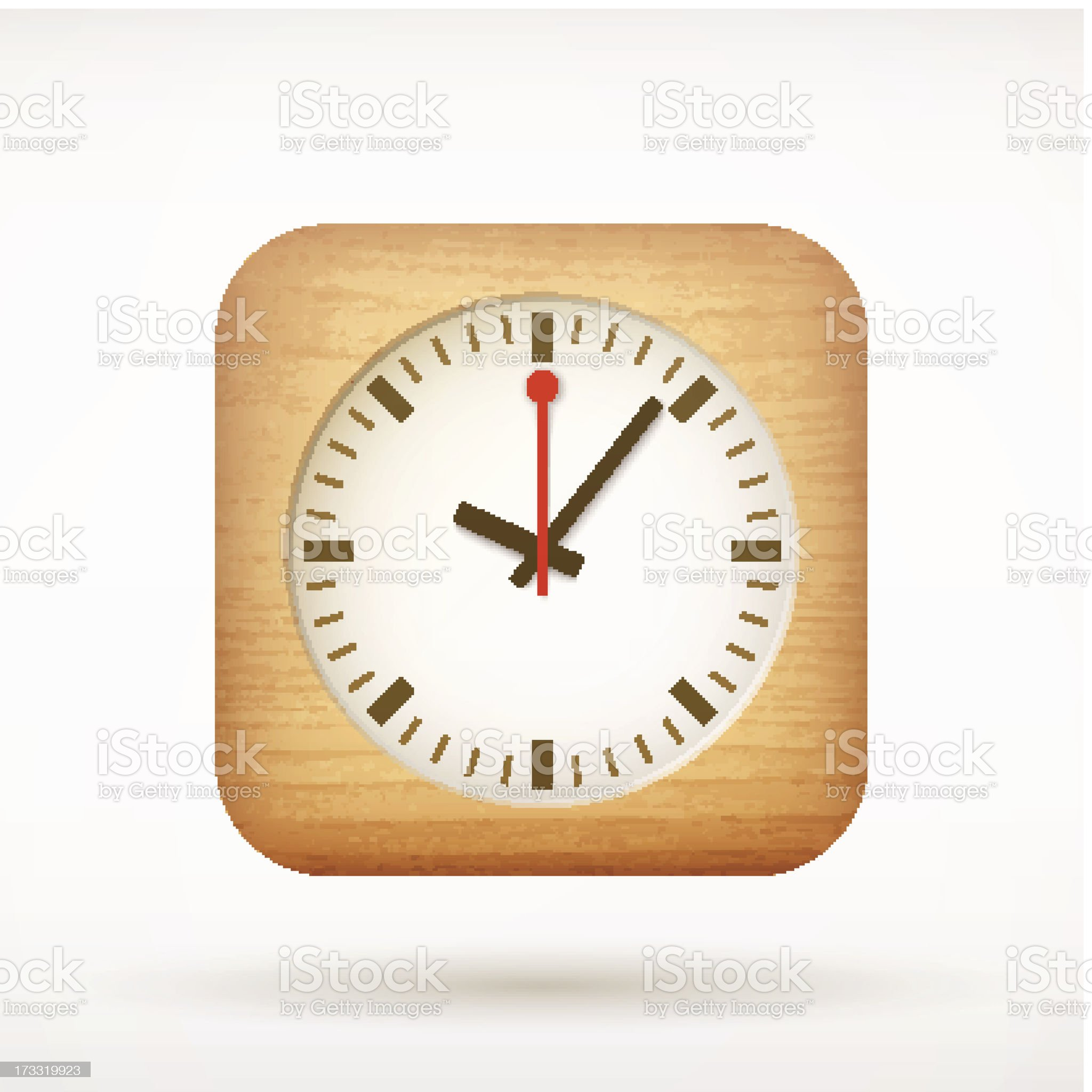 clock app icon on rounded corner square royalty-free stock vector art