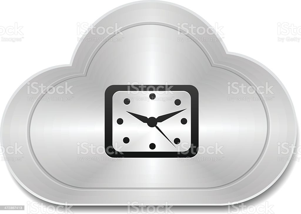 Clock cloud icon royalty-free stock vector art