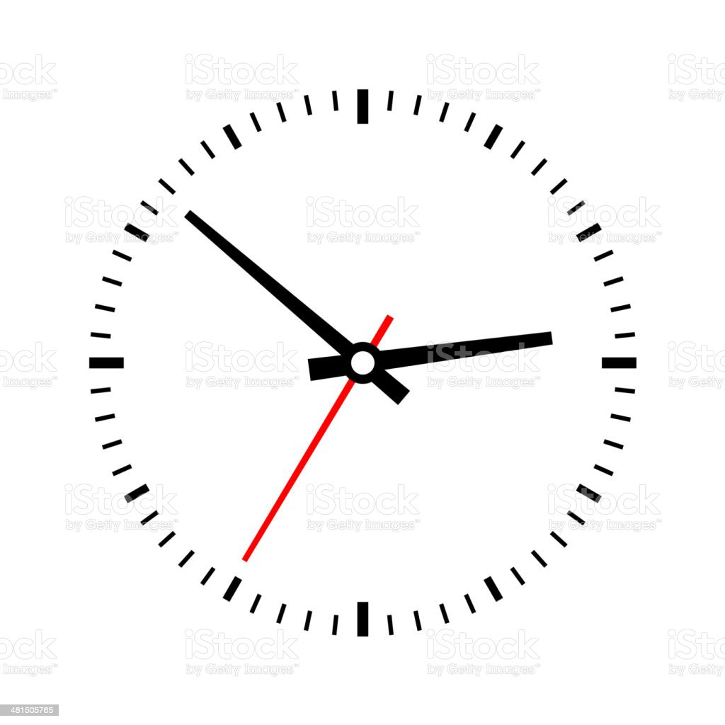 Clock dial on a white background. Vector royalty-free stock vector art
