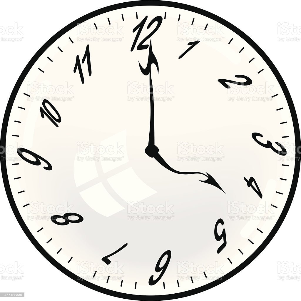 Clock Distorted royalty-free stock vector art