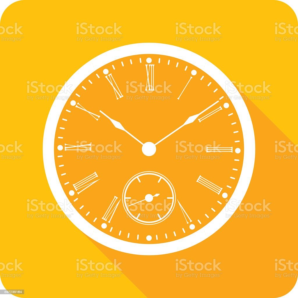 Clock Face Icon Silhouette vector art illustration