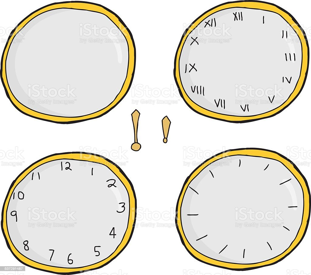 Clock Face Series vector art illustration