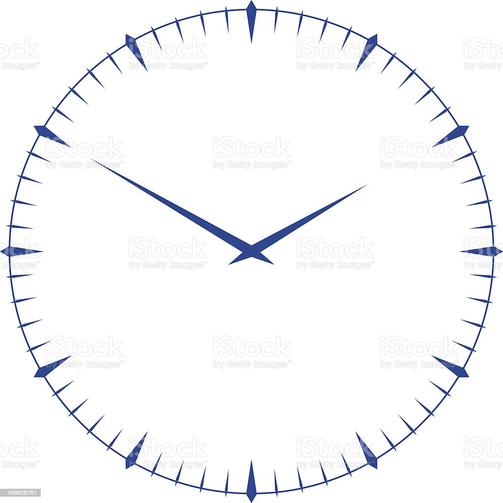 clock face vector art illustration