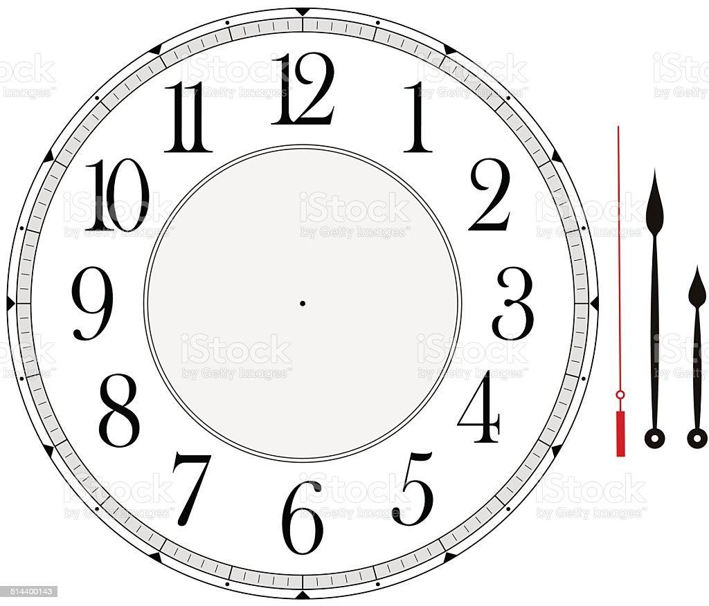 clock face vector art illustration