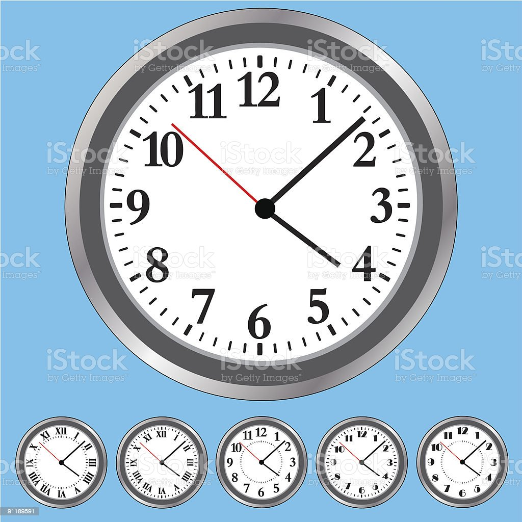 Clock Face royalty-free stock vector art