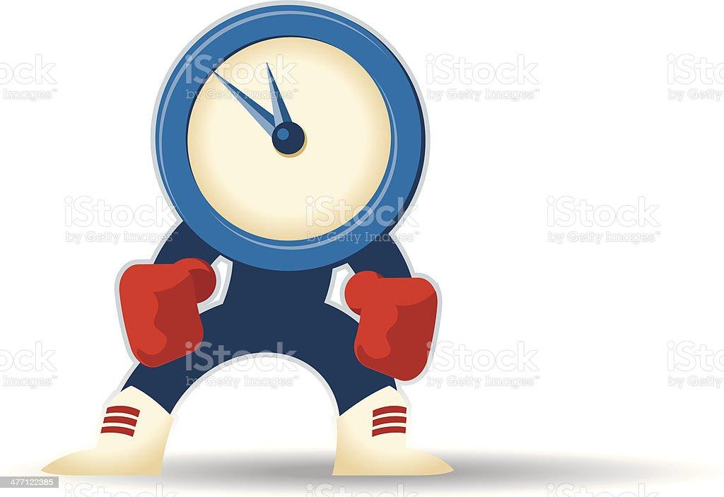 Clock Fighter C royalty-free stock vector art