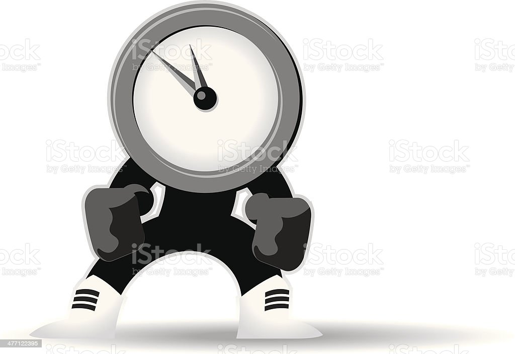 Clock Fighter royalty-free stock vector art