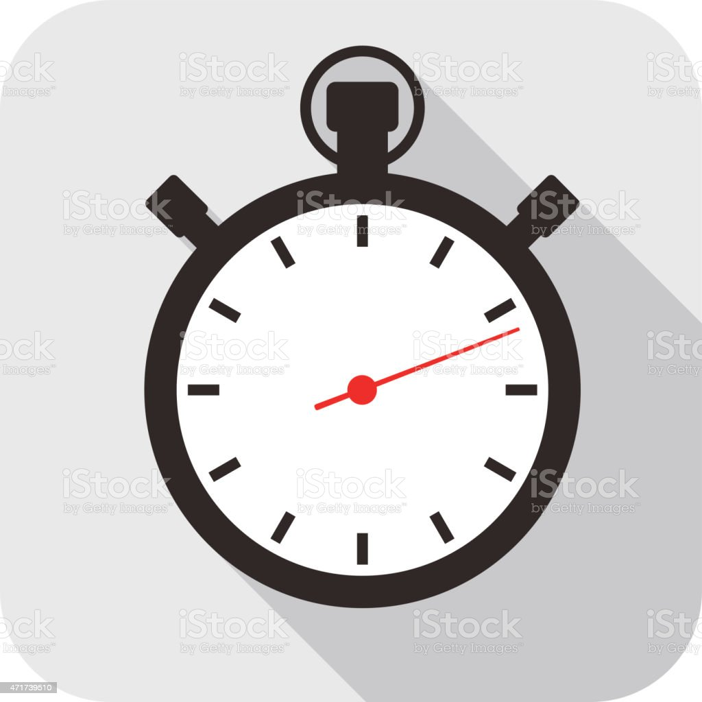 Clock flat fashion icon design, watch icon vector art illustration