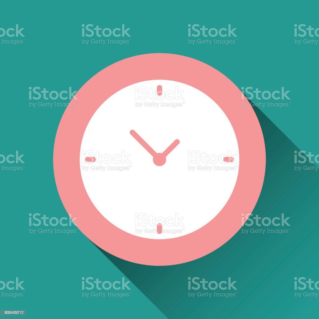 clock flat icon vector art illustration