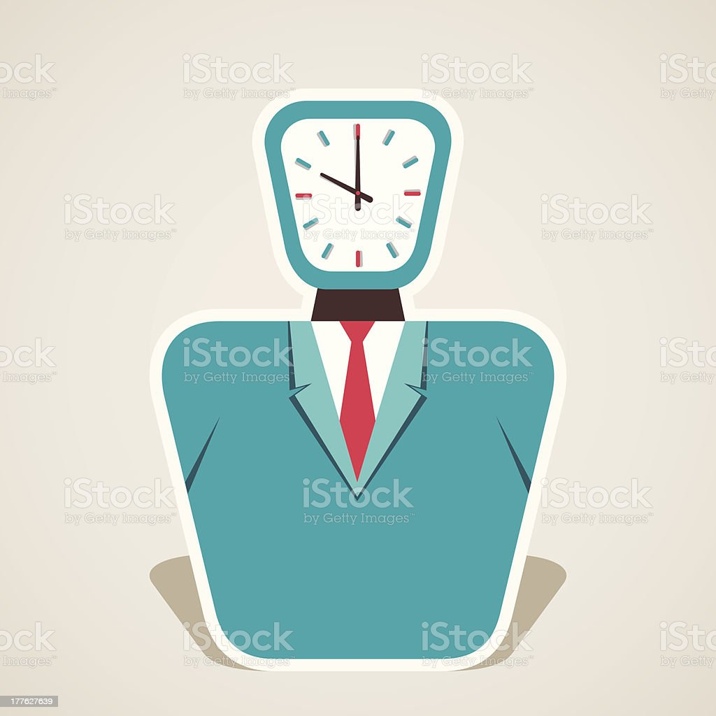 clock head royalty-free stock vector art