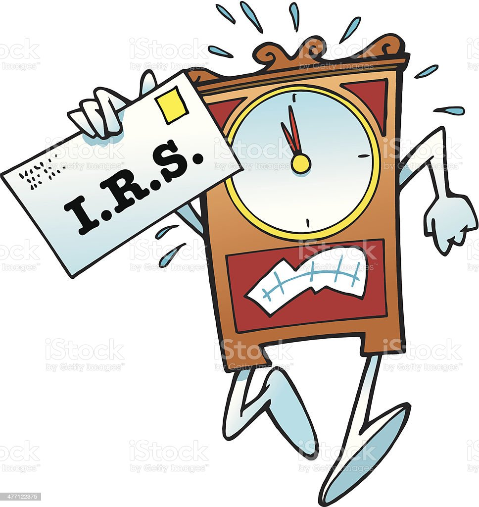 Clock I R S C royalty-free stock vector art