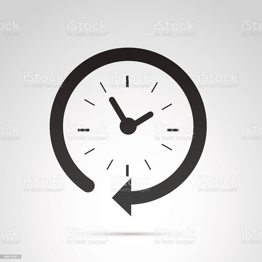 Clock icon isolated on white background. vector art illustration