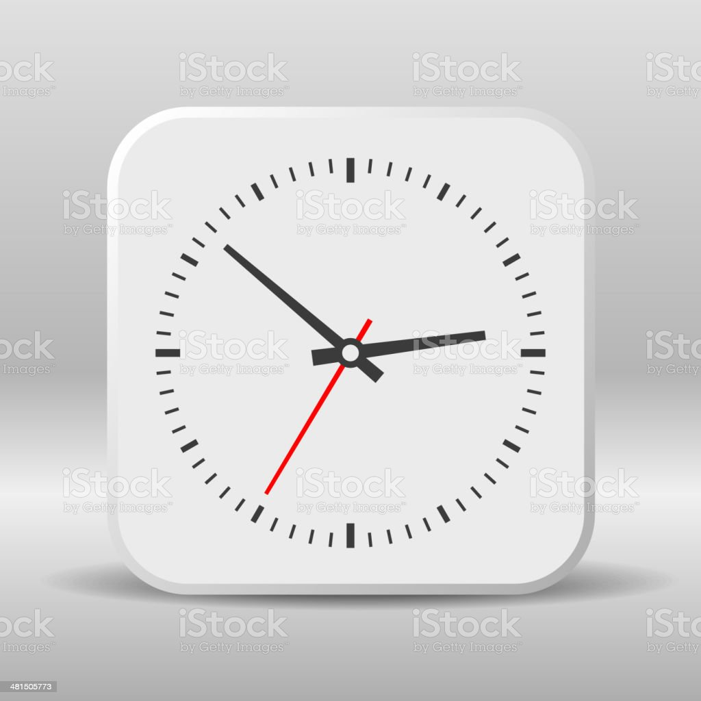 Clock icon on a white background. Vector royalty-free stock vector art