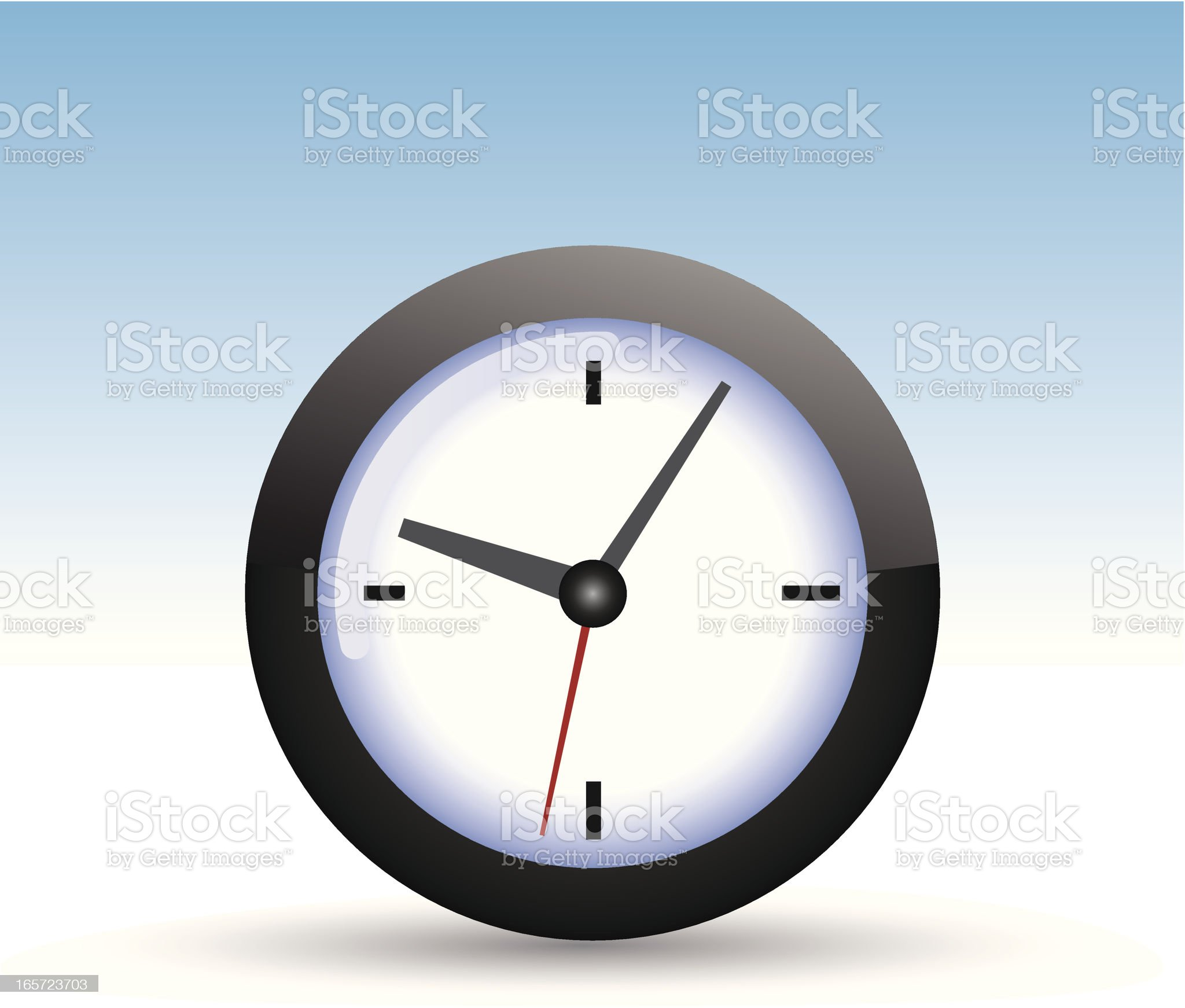 Clock Icon royalty-free stock vector art