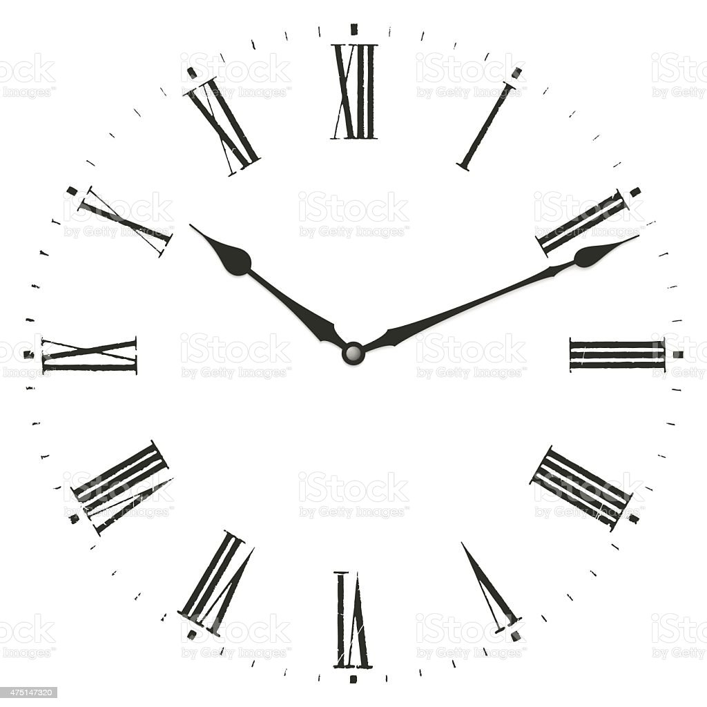 Clock illustration. vector art illustration