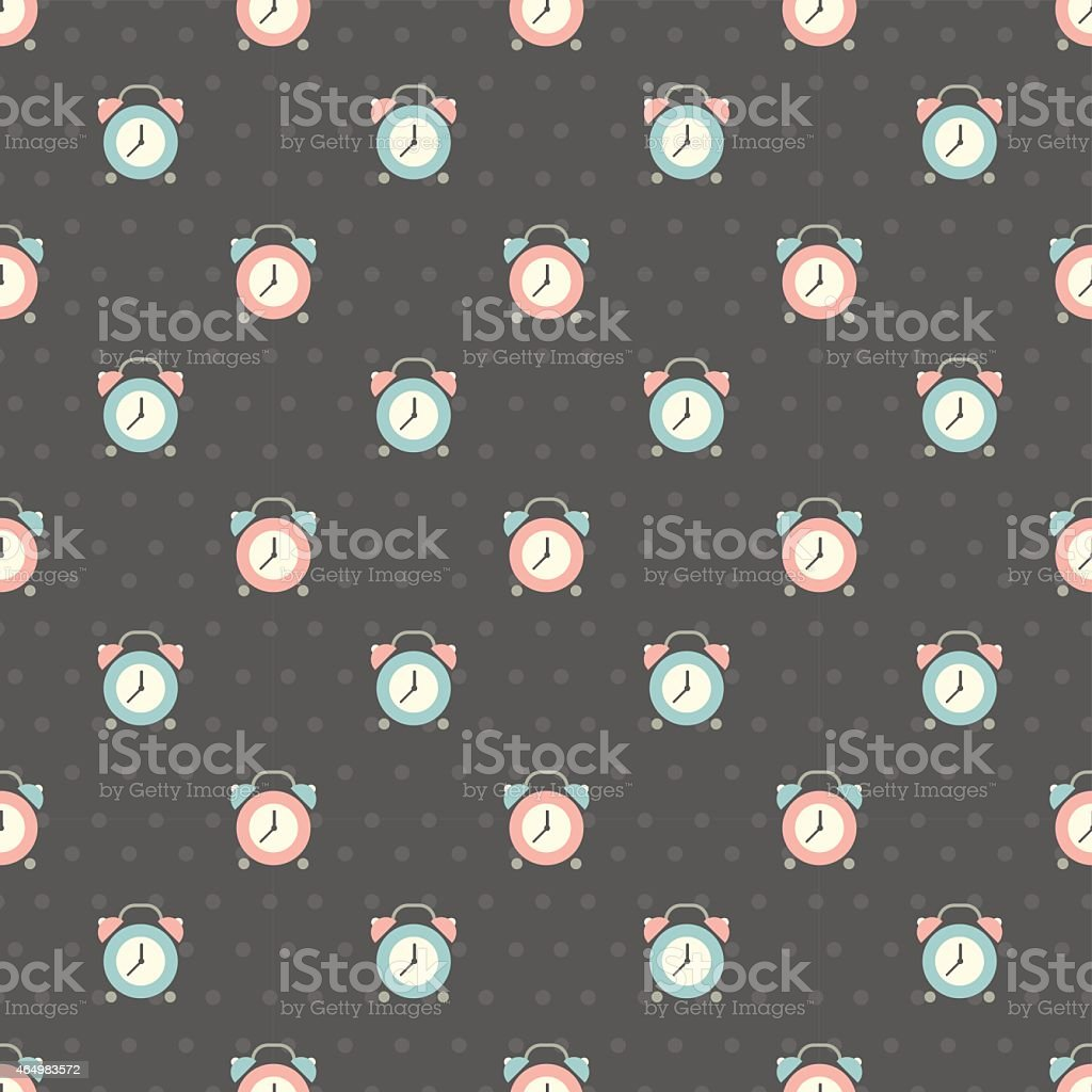 clock pattern vector art illustration