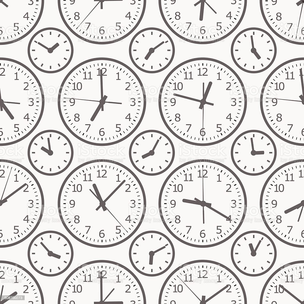 clock seamless pattern. The electronic device. vector art illustration