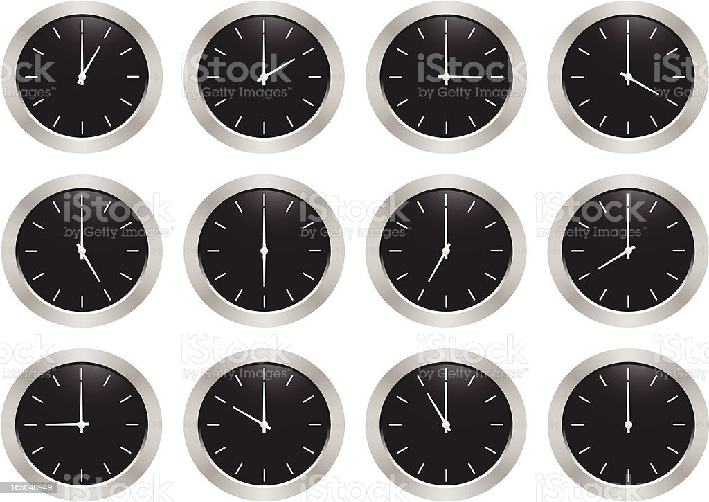Clock Series royalty-free stock vector art