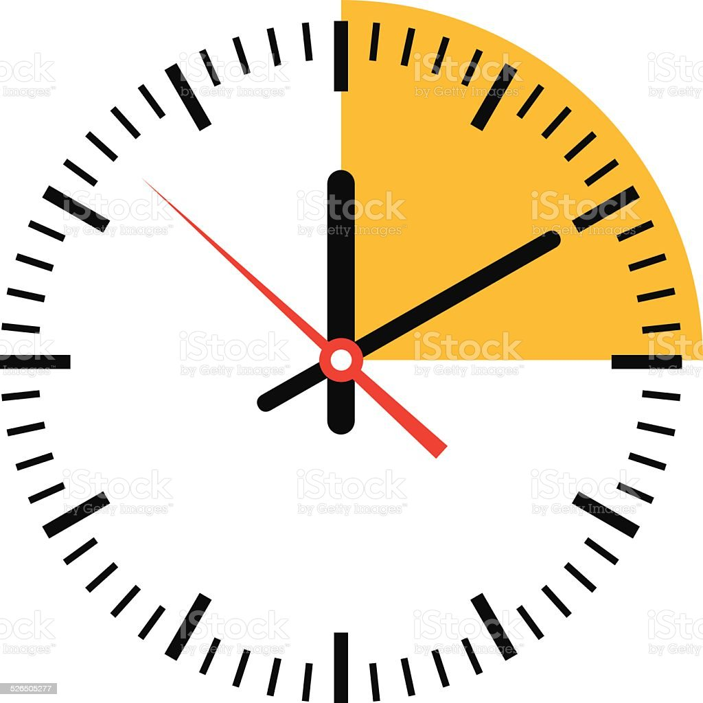 Clock showing time - VECTOR vector art illustration