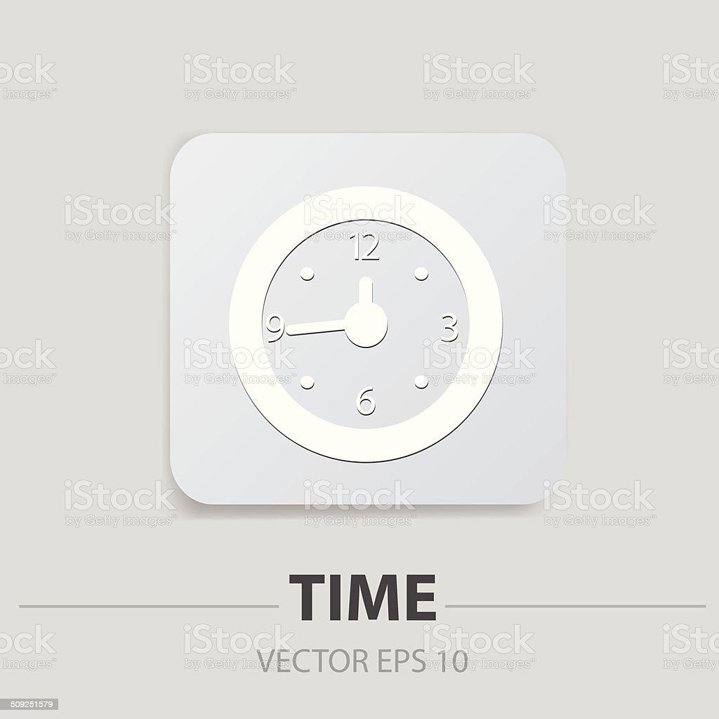 Clock sign,vector vector art illustration