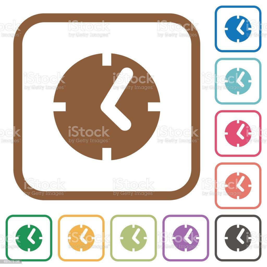Clock simple icons vector art illustration