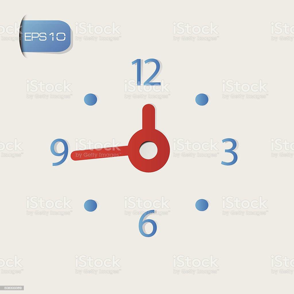 Clock symbol,vector vector art illustration