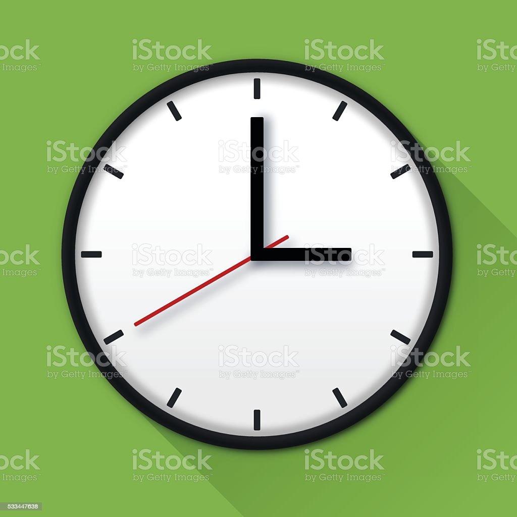 Clock Time Symbol vector art illustration