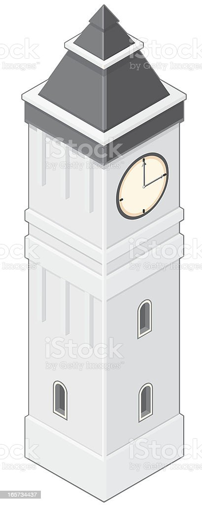 Clock Tower royalty-free stock vector art