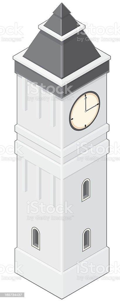 Clock Tower vector art illustration