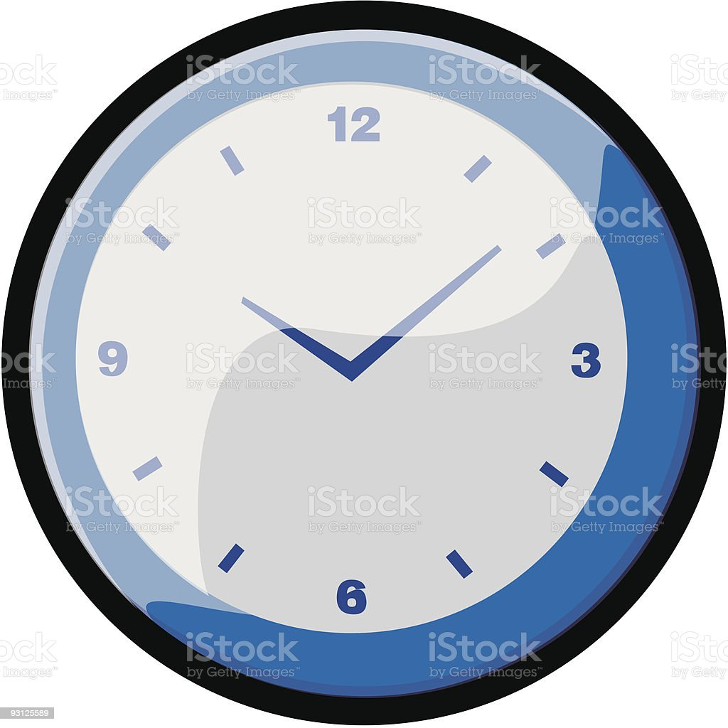 Clock vector icons royalty-free stock vector art