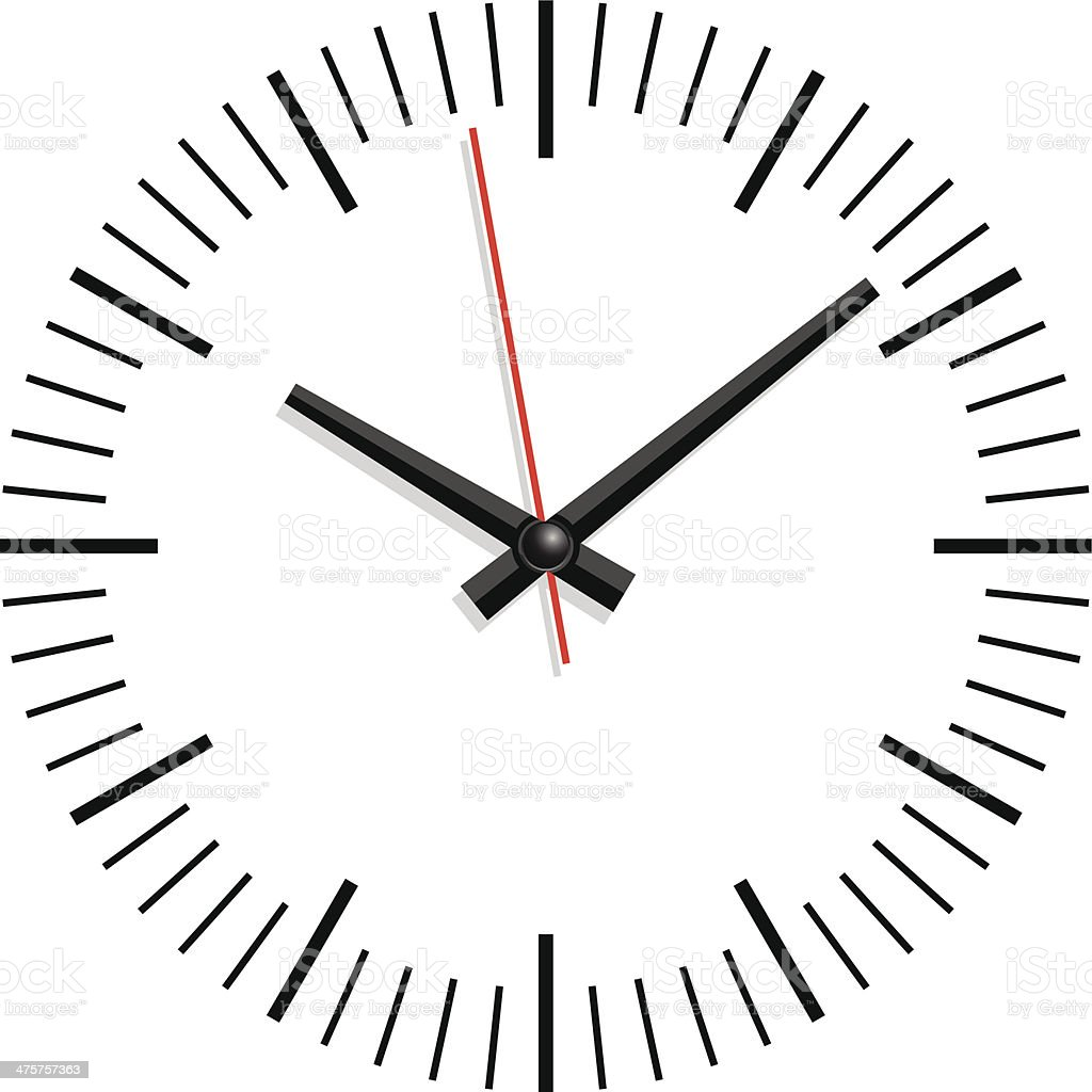 clock vector art illustration