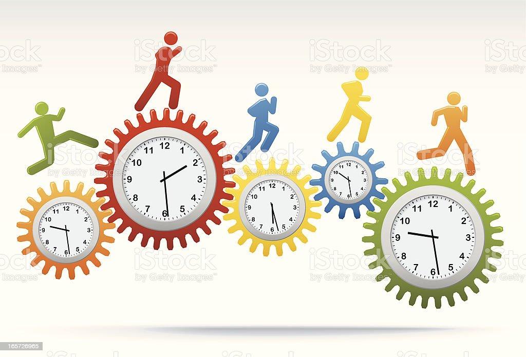 Clock Work vector art illustration