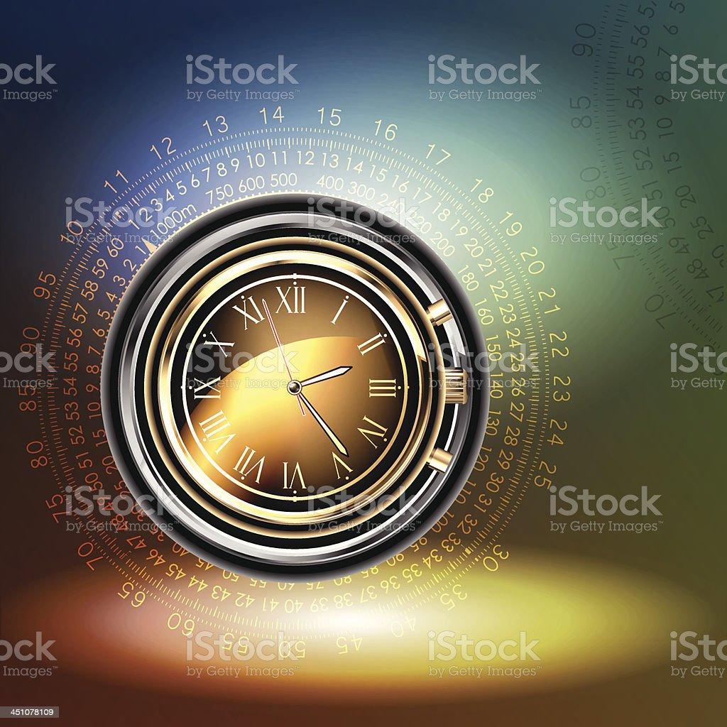 clocks background royalty-free stock vector art